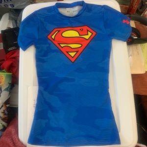 Boys Youth Under Armour SuperMan Shirt!